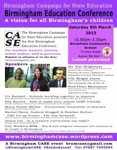 Birmingham Schools Conference flyer