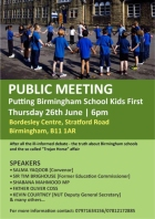 Putting Birmingham School Kids First meeting and statement-1